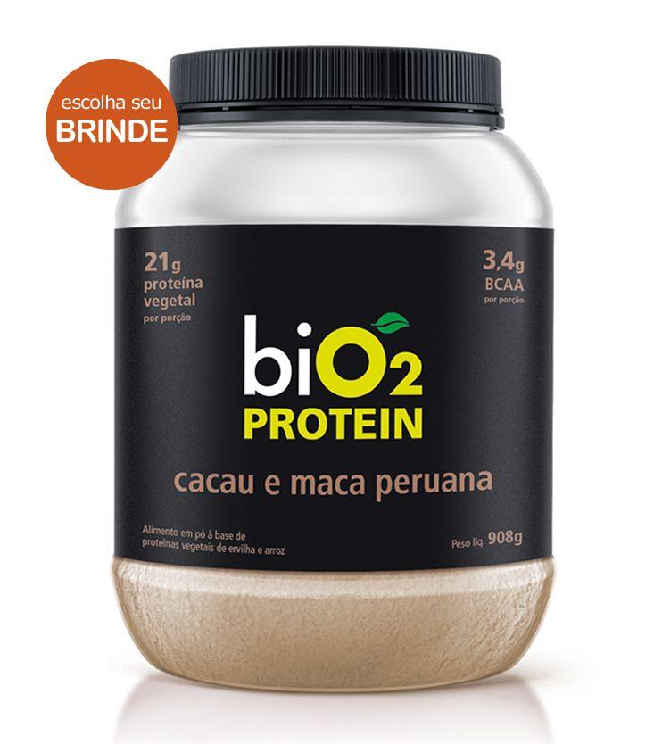 Proteína Vegana biO2 Protein Cacau e Maca Peruana 908g - biO2
