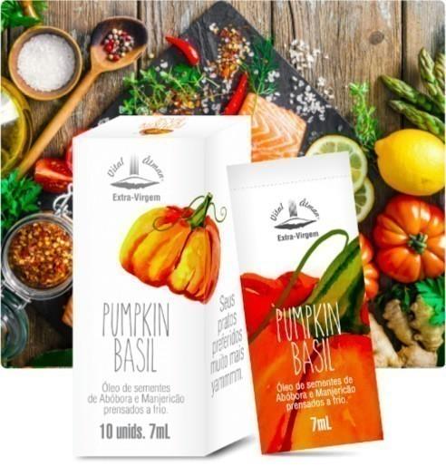 Pumpkin Basil - Óleo de Sementes de Abóbora e Manjericão em sachês - Vital Âtman