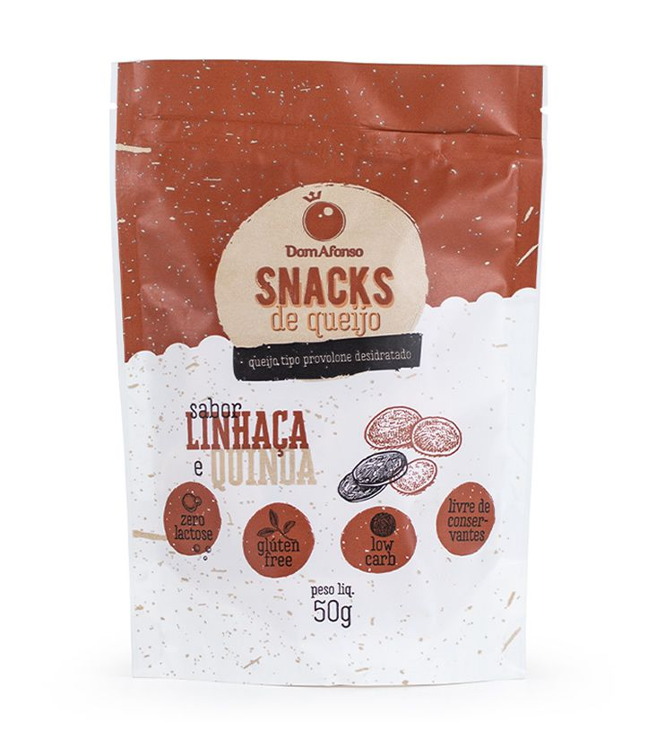 Queijo Provolone Desidratado sabor Linhaça e Quinoa 50g - Queijos Dom Afonso