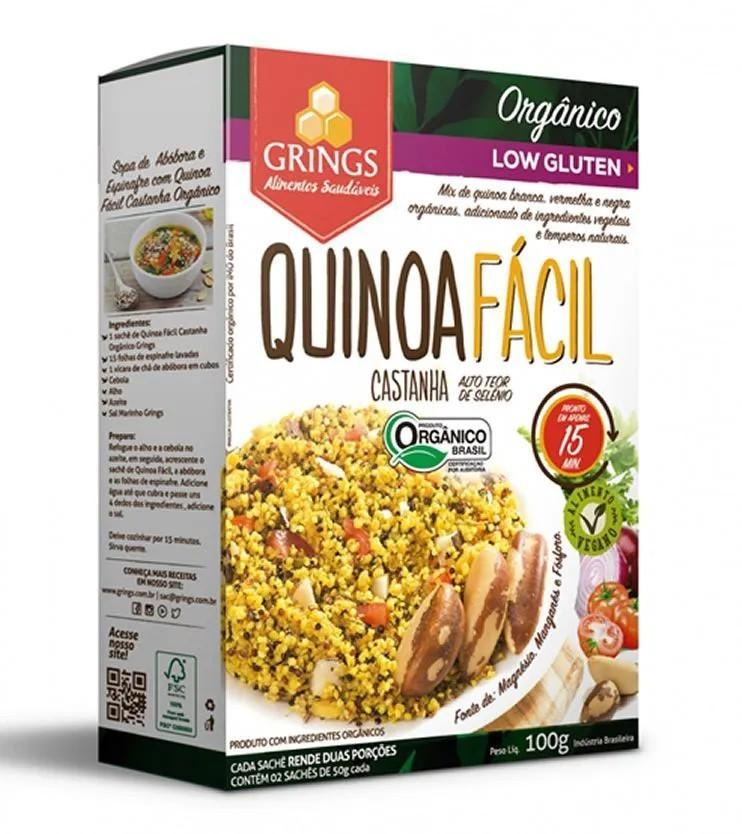 Quinoa fácil Castanha Orgânica 100g - Grings Alimentos Saudáveis