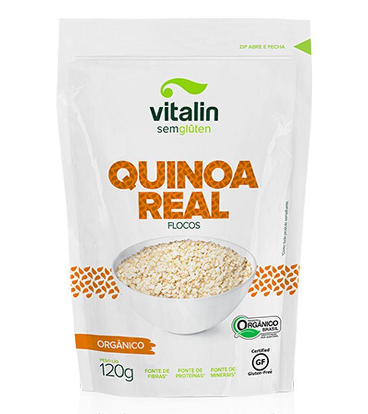 Quinoa em Flocos Orgânica 120g - Vitalin Sem glúten