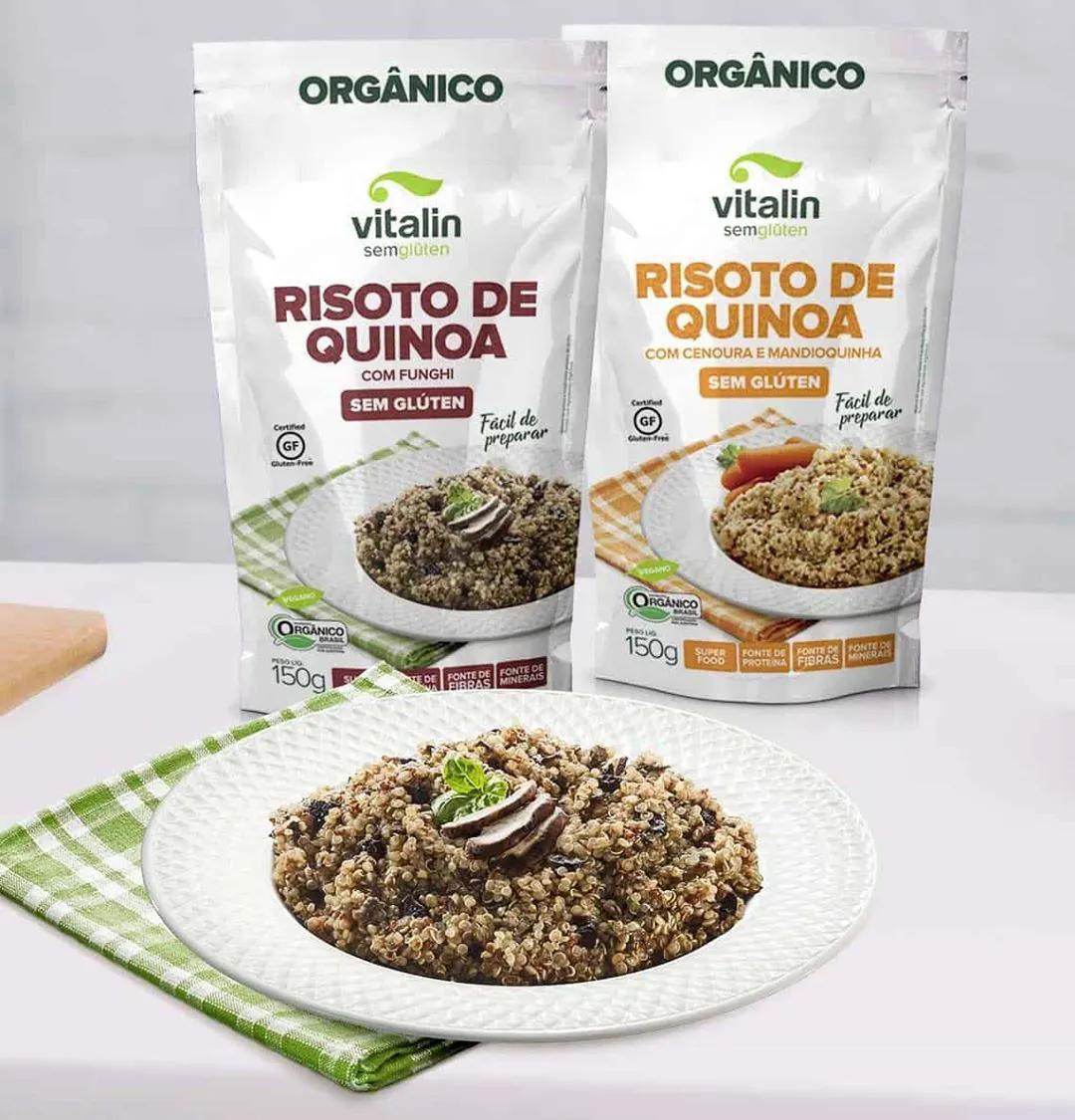 Risoto de Quinoa com Cenoura e Mandioquinha 150g – Vitalin Sem Glúten