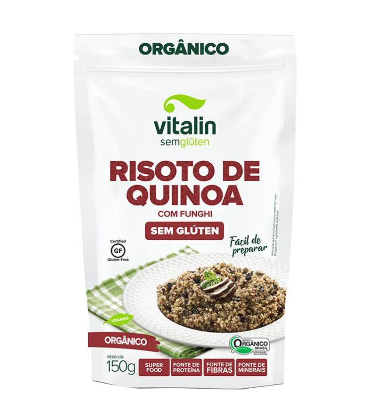 Risoto de Quinoa com Funghi 150g – Vitalin Sem Glúten