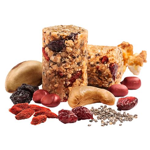 Senhora Paçoca Mixed Nuts + Frutas Vermelhas, chia e Pipoca 17g - Senhora Pipoca
