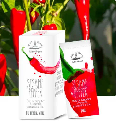 Sesame Pepper - Óleo de Gergelim e Pimenta Prensado a frio em sachê - Vital Âtman