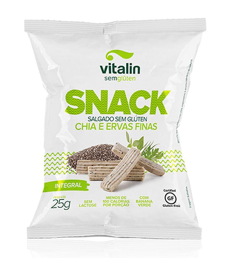 Snack Integral Chia e Ervas Finas 25g - Vitalin Sem glúten