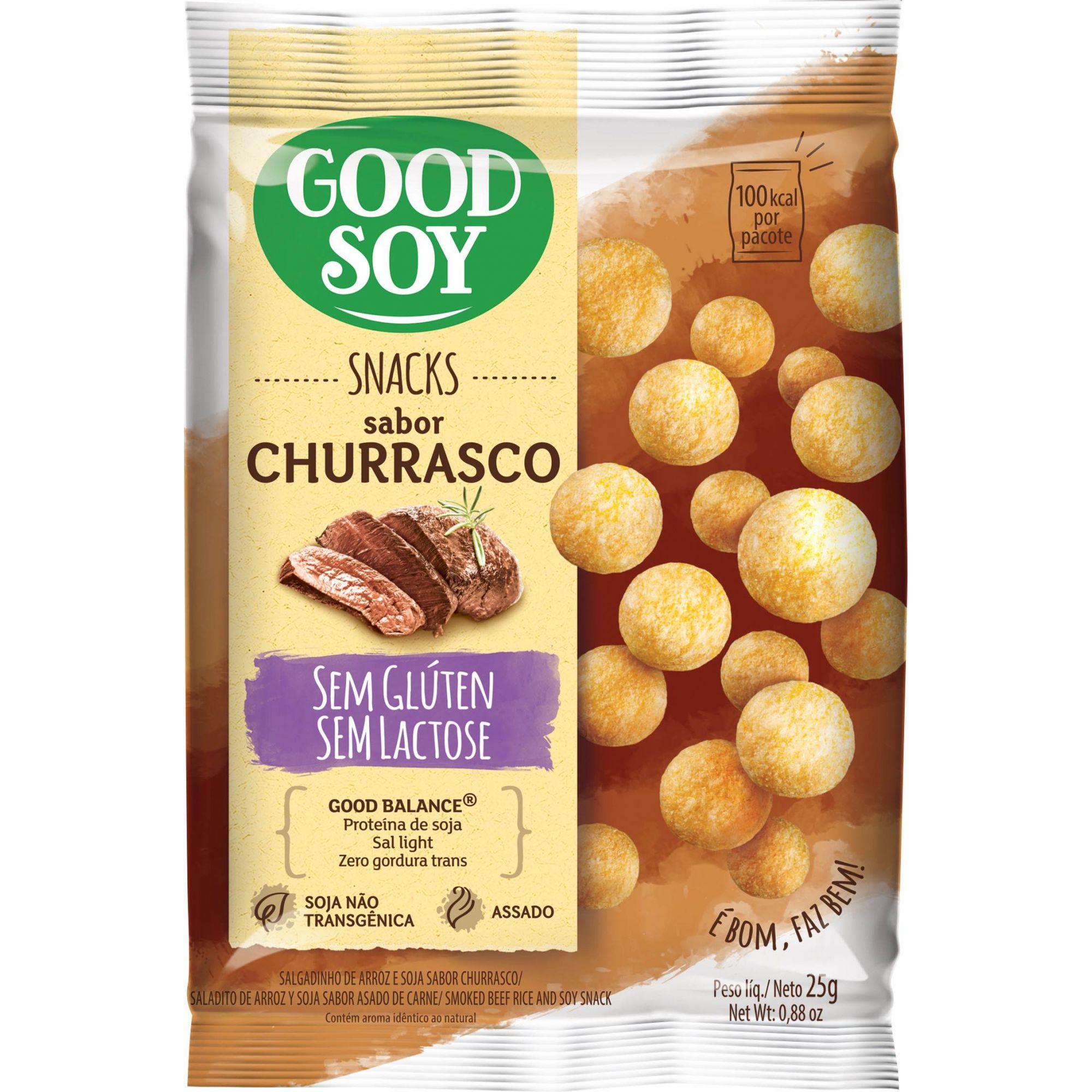 Snack salgadinho de Soja sabor Churrasco 25g - GoodSoy