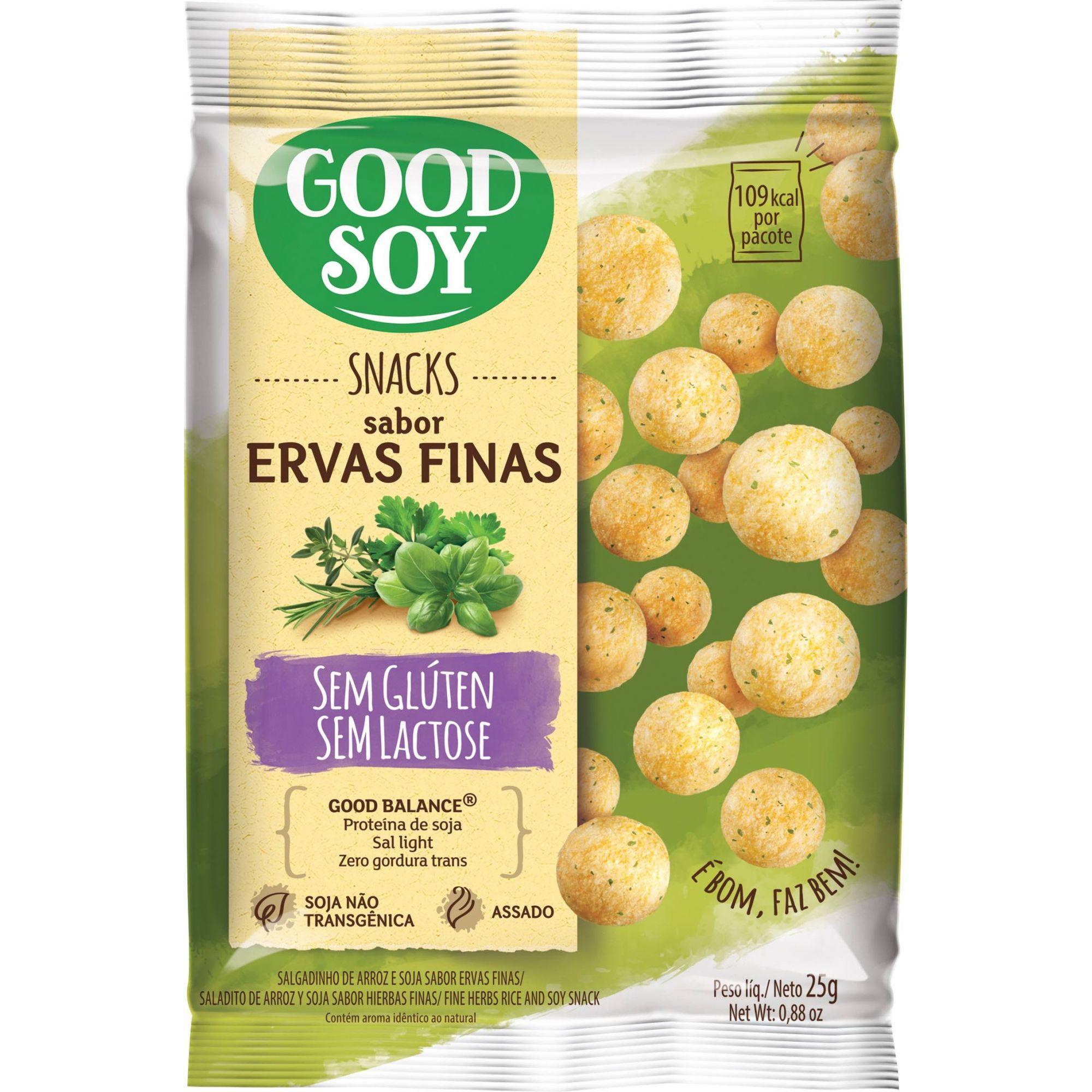 Snack salgadinho de Soja sabor Ervas Finas 25g - GoodSoy