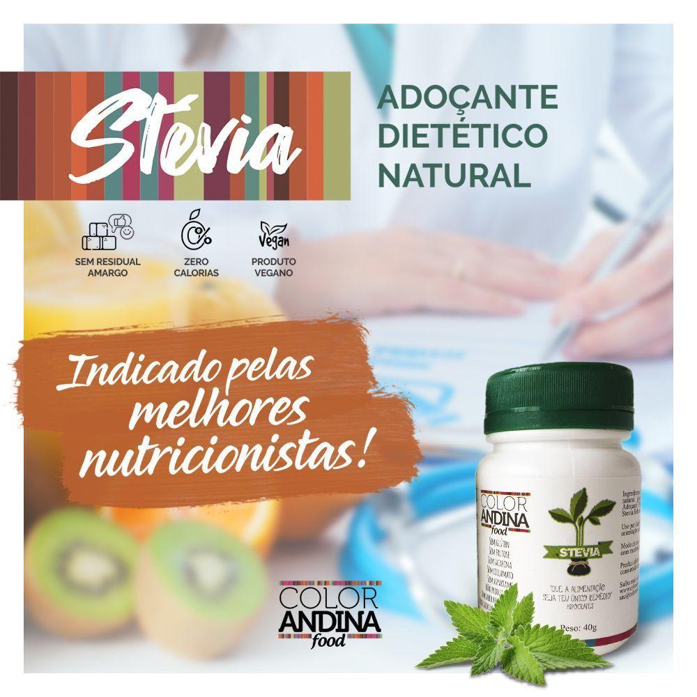 Stévia Adoçante dietético em pó 20g - Color Andina Food