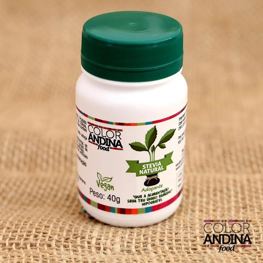 Stévia Adoçante dietético em pó 40g - Color Andina Food