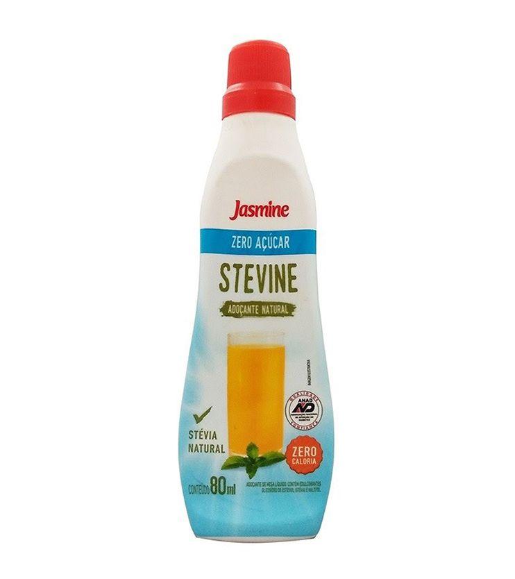 Stevine Líquido Adoçante Natural 80ml - Jasmine