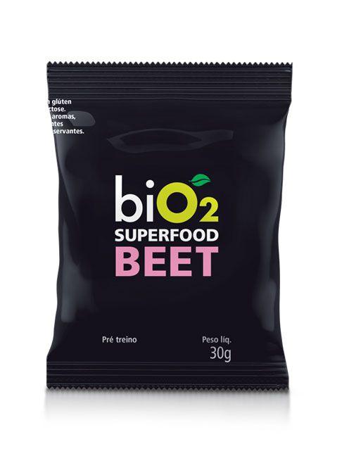 Suplemento energético Pré treino Superfood Beterraba 30g (Sachê) - biO2