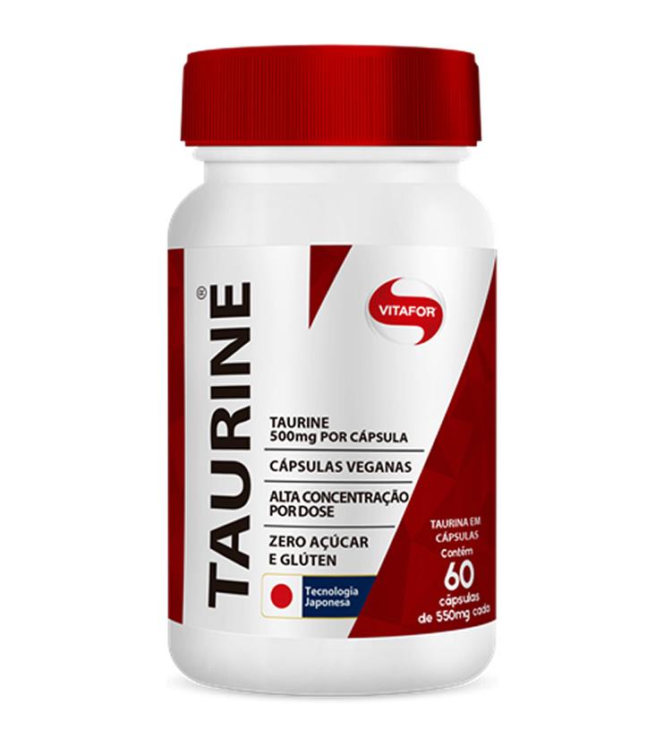 Taurine 60 cápsulas 550mg - Vitafor