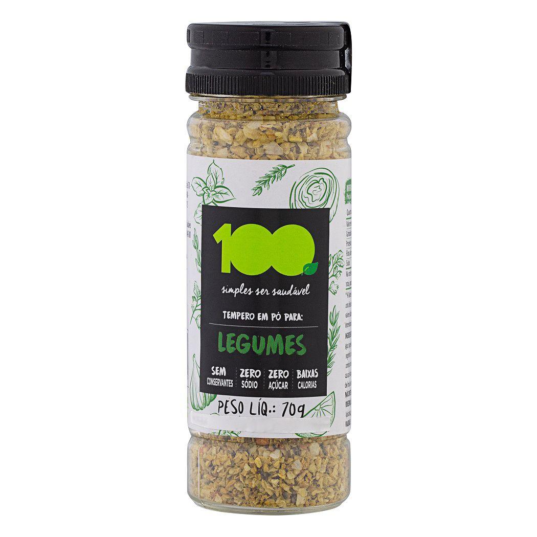 Tempero para Legumes Zero Sódio 70g - 100 Foods