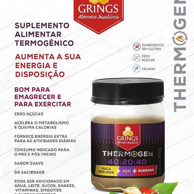 Termogênico Natural Thermogen 40:20:40 Maca Peruana, Açaí e Guaraná 100g - Grings