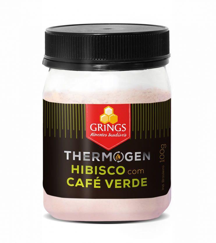 Termogênico Natural Thermogen Hibisco com Café Verde 100g - Grings