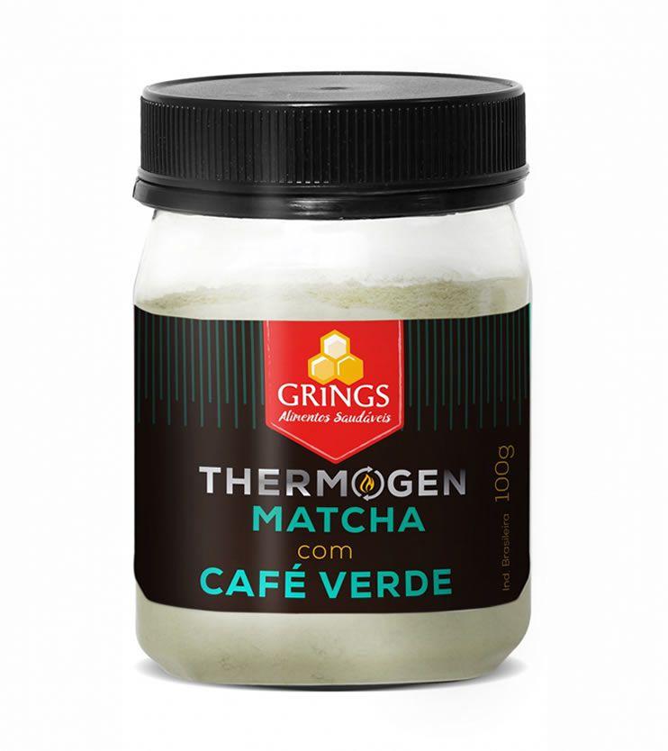 Termogênico Natural Thermogen Matcha com Café Verde 100g - Grings