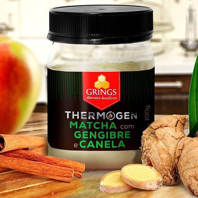 Termogênico Natural Thermogen Matcha com Gengibre e Canela 100g - Grings