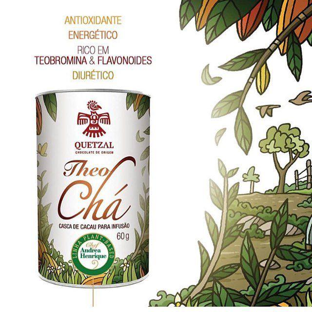 TheoChá cascas da Cacau para infusão 60g - Quetzal