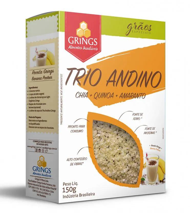 Trio Andino Chia + Quinoa + Amaranto 150g - Grings Alimentos Saudáveis