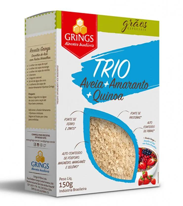 Trio Aveia + Amaranto + Quinoa 150g - Grings Alimentos Saudáveis