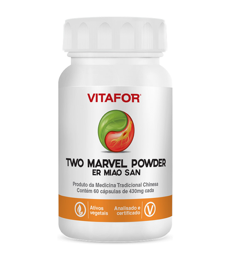 TWO MARVEL POWDER Er Miao San 60 cápsulas de 430mg - Vitafor