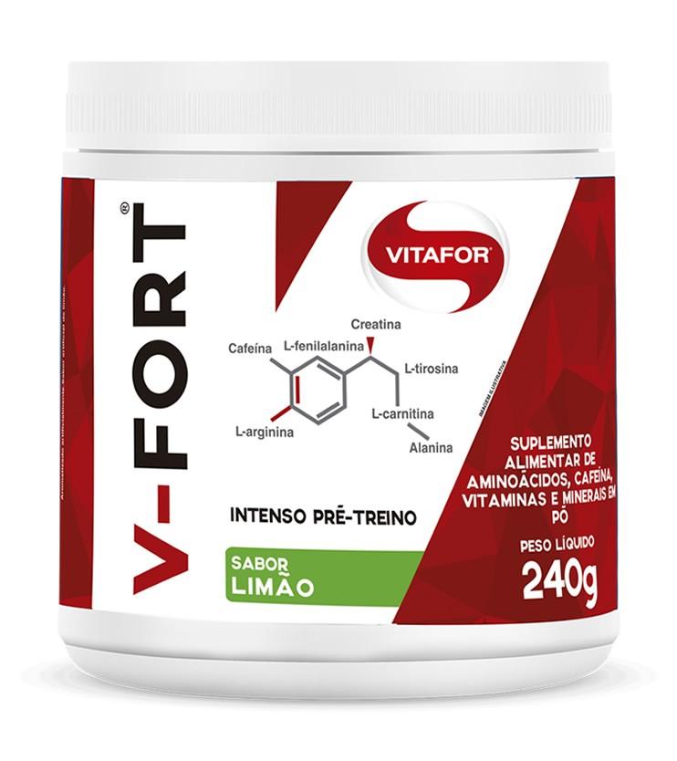 V - FORT Intenso Pré-treino Sabor Limão 240g - Vitafor