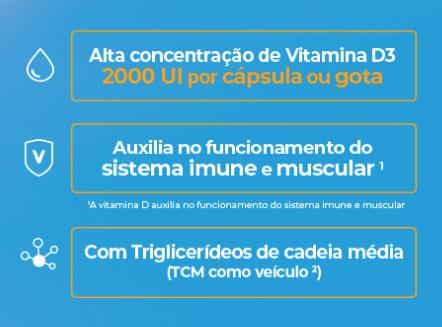 Vitamina D - Vita D3 em gotas 10ml - Vitafor