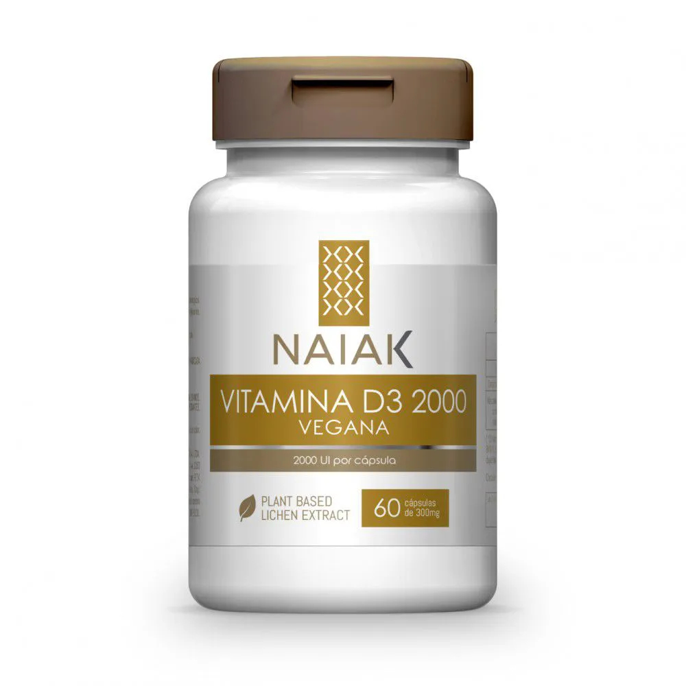 Vitamina D3 2000 UI Vegana 60 cápsulas - Naiak