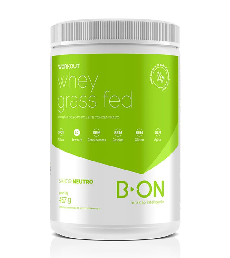 Whey Protein Grass Fed Sabor Neutro  457g - B-ON