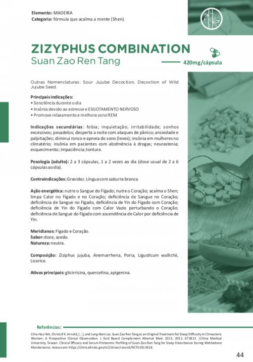 ZIZYPHUS COMBINATION Suan Zao Ren Tang 60 cápsulas de 420mg - Vitafor