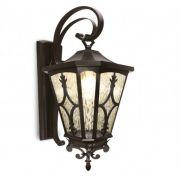 Arandela Colonial Lanterna Metal E Vidro Externa E Interna LO-1425