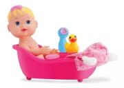 Brinquedo My Little Alive Banho Baby Divertoys Sai Água De Verdade