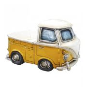 Cofre Miniatura Kombi PickUp Amarela