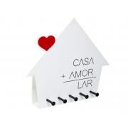 Porta Chaves Casa+Amor=Lar