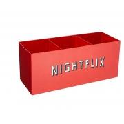 Porta Controle Nightflix Vermelho