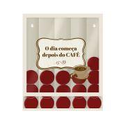 Quadro Porta Cápsulas Café Branco Dolce Gusto / 3 Corações / Nespresso