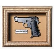 Quadro Réplica de Arma Resina KG Beretta Pocket Pistol mod. 1934 cal. 7,65 mm - Clássico