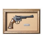 Quadro Réplica de Arma Resina KG Smith & Wesson S.A. cal. 38 S&W - Clássico