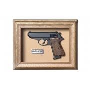 Quadro Réplica de Arma Resina KG Walther PPK/S cal. .380 ACP - Clássico