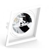 Spot de Embutir Teto Direcionável Orbital Quadrado Ar111 GU10