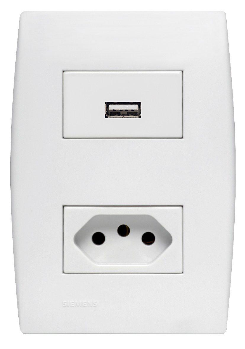 1 Carreg. USB + 1 Tom. NBR 10A- Ilus (5TG9 9103) - Siemens