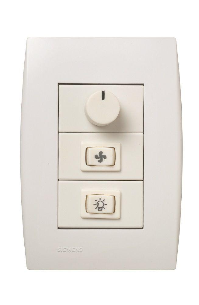 1 Controle de Ventilador 127V~ 250VA (c/ 1 pontos para luz) – Ilus (5TG9 9071) - Siemens