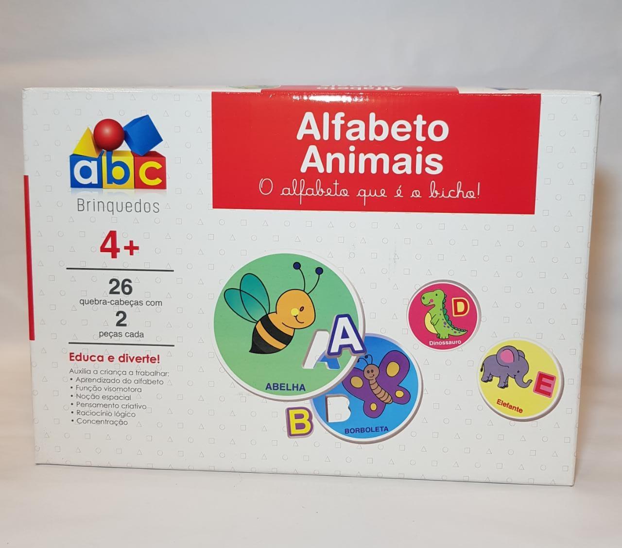 QUEBRA CABEÇA ALFABETO ANIMAIS +4