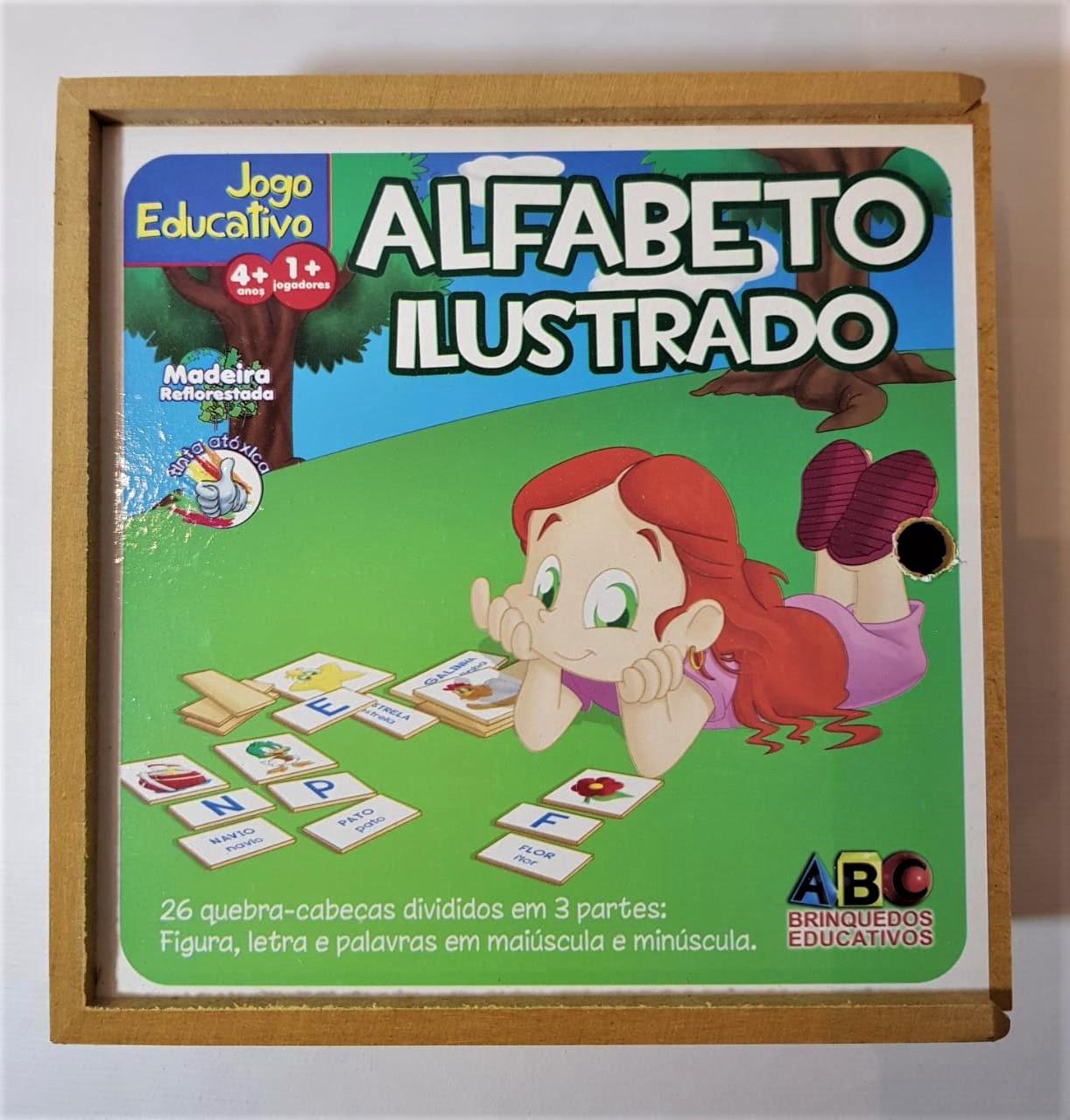 ALFABETO ILUSTRADO -  JOGO EDUCATIVO