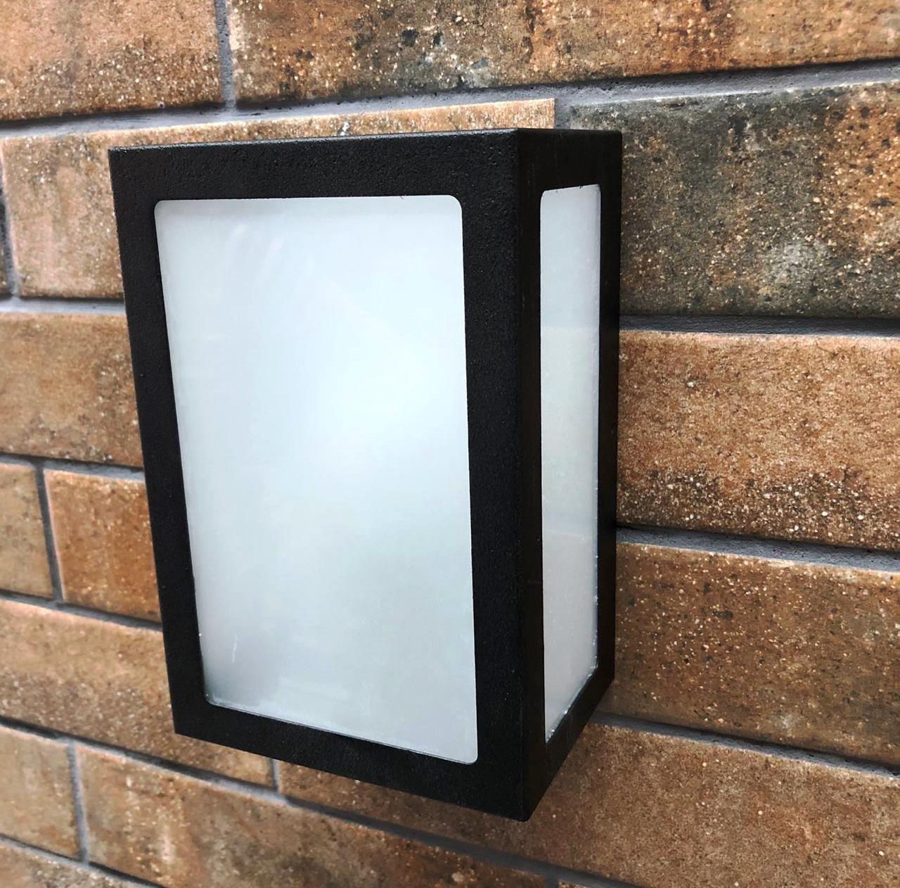 Arandela 5 Vidros Parede Muro Para Área Externa e Interna E27 Branca