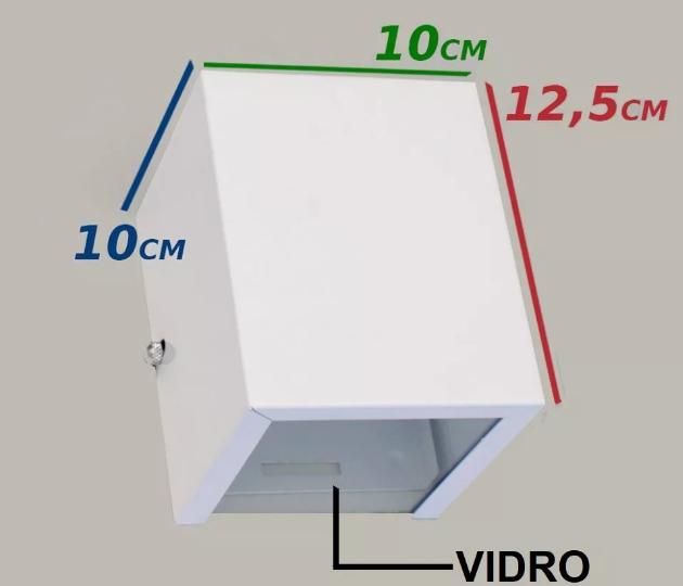 Arandela BOX 1 Facho Uso Interno e Externo em Alumínio