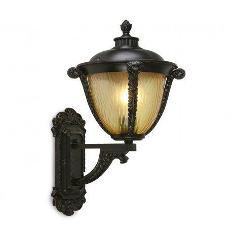 Arandela Colonial Lanterna Metal E Vidro Uso Externa e Interna LO-1416