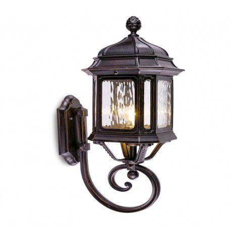 Arandela Colonial Lanterna Metal E Vidro Externa E Interna LO-1414