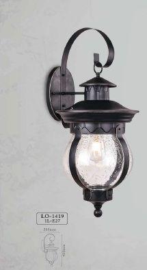Arandela Colonial Lanterna Metal E Vidro Externa E Interna LO-1419